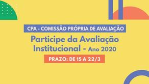 CPA DISPONIBILIZA FORMULÁRIOS PARA AVALIAÇÃO INSTITUCIONAL INTERNA