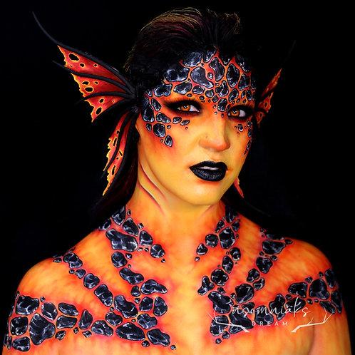 FIRE Elemental Mermaid