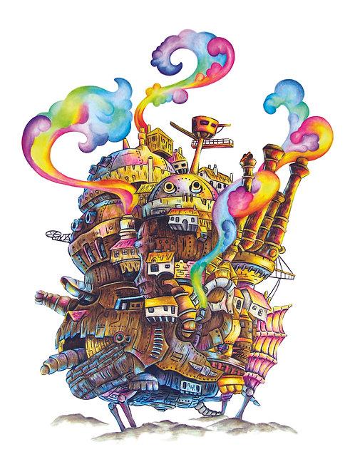 Howl's Castle Poster
