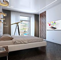 Визуализация спальни хозяйской (вариант