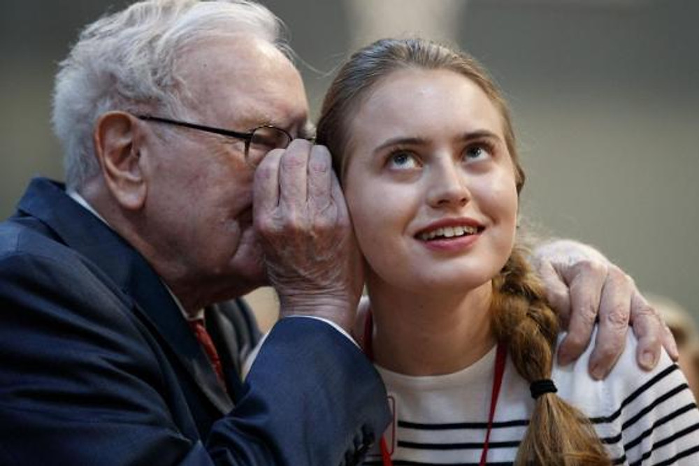 Warren Buffett talking about the importance of investing to a young woman.