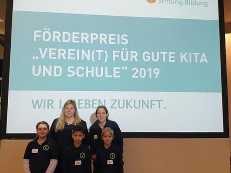 """Nominierung: Förderpreis """"Verein(t) für gute Kita und Schule"""" 2019"""