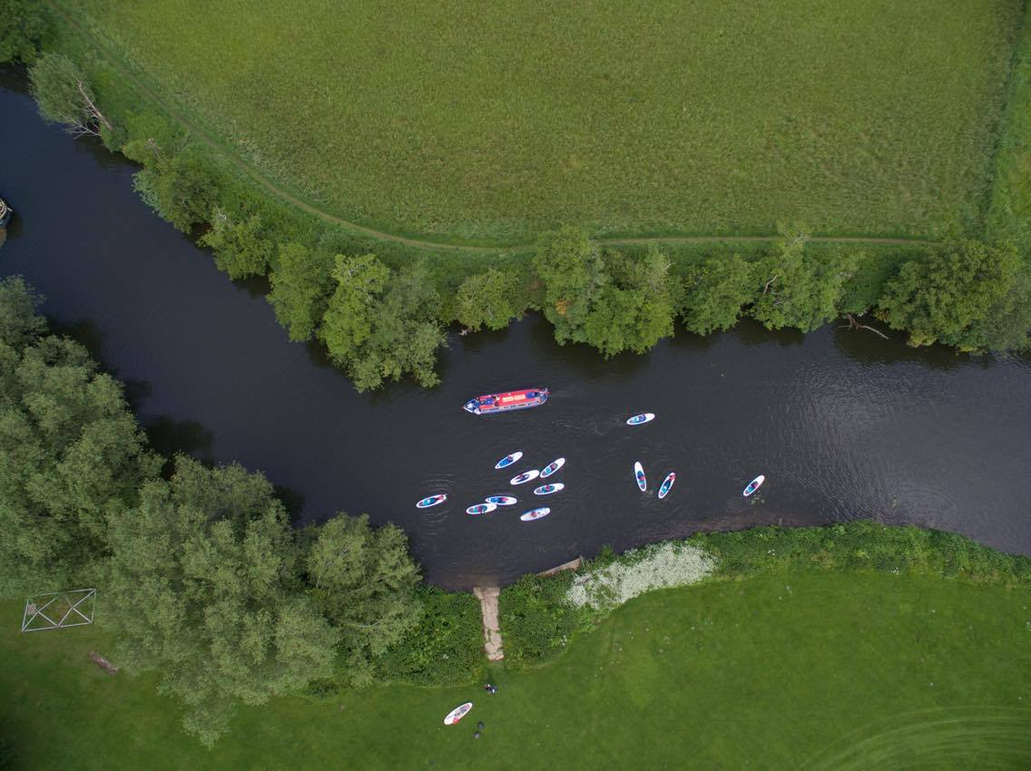 Aerial shot SUP Club
