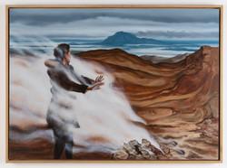 Iceland - Oil on wood, 65x90cm, 2019
