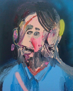 Selfportrait with blue t-shirt, 2016