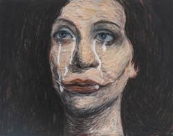 La donna che piange sperma
