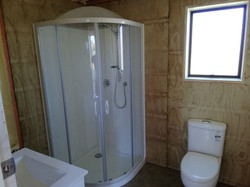 bathroom in container cabin