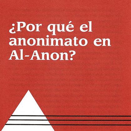 ¿Por qué el anonimato en Al-Anon?