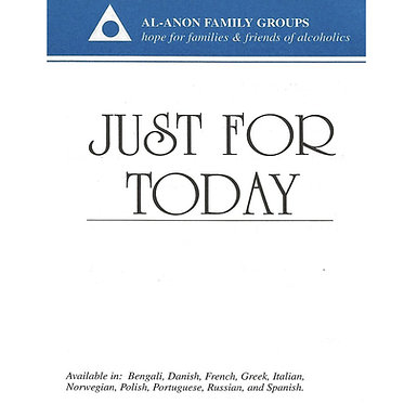 Just For Today Al-Anon Wallet Card