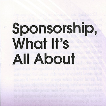 Sponsorship, What It's All About