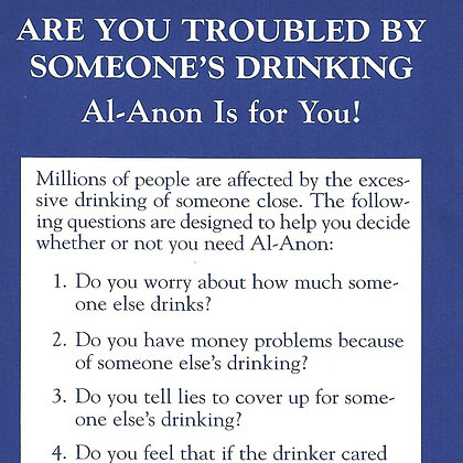 Troubled by Someone's Drinking?