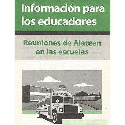 Información para los educadores: Reuniones de Alateen en las escuelas
