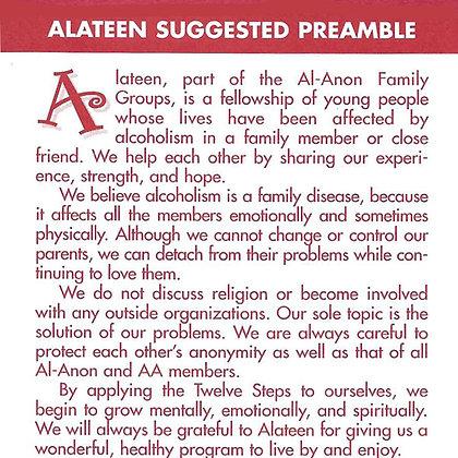 Alateen Program Card