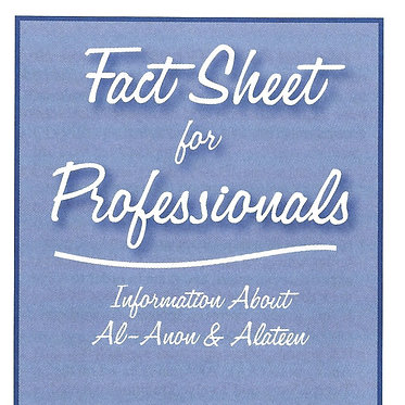 Fact Sheet for Professionals