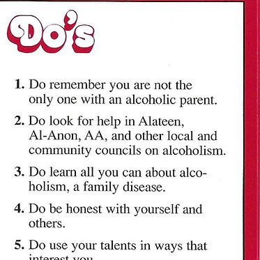 Alateen Do's and Don'ts