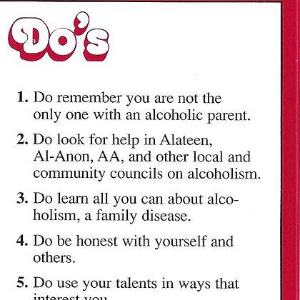 Alateen Do's and Don'ts