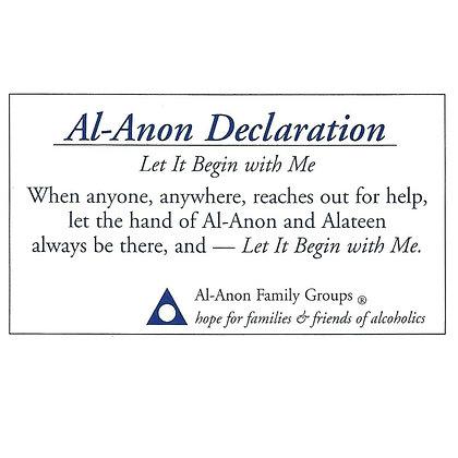 Al-Anon Declaration Card