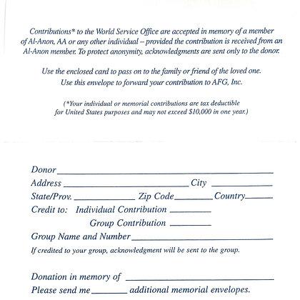 Memorial Envelope