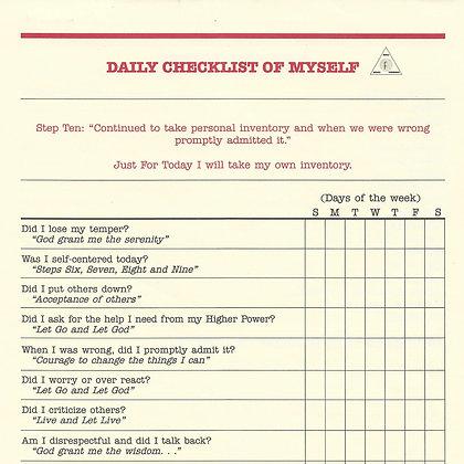 Daily Checklist for Myself