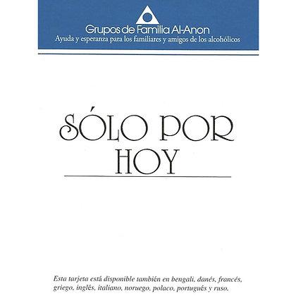 Al-Anon Sólo por hoy (tarjeta)