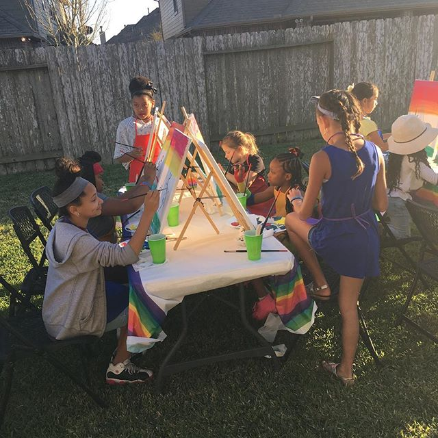 Primary Paint Party! #Art #painting #paintings #PrimaryPaintParty #birthday #kidsparty