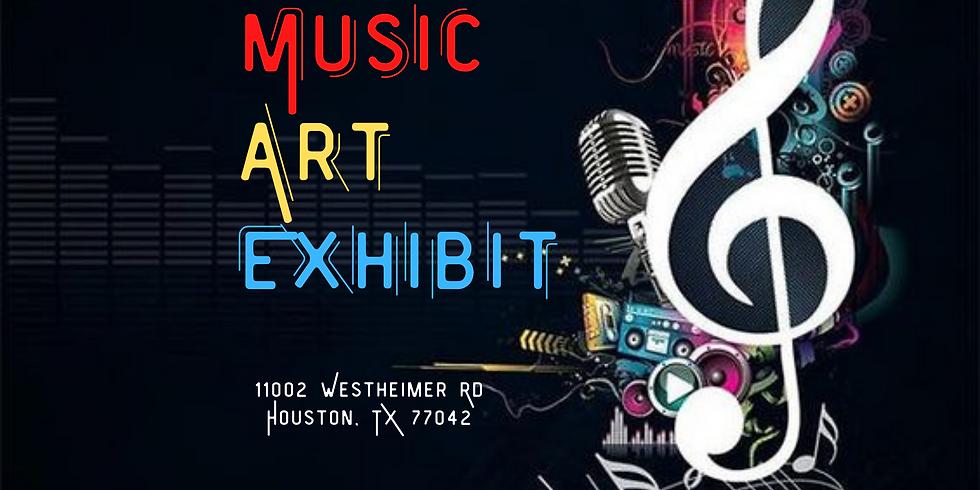 Music Art Exhibit Opening Day