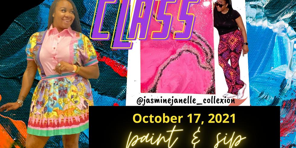 XL Canvas Class w/ Jasmine Janelle