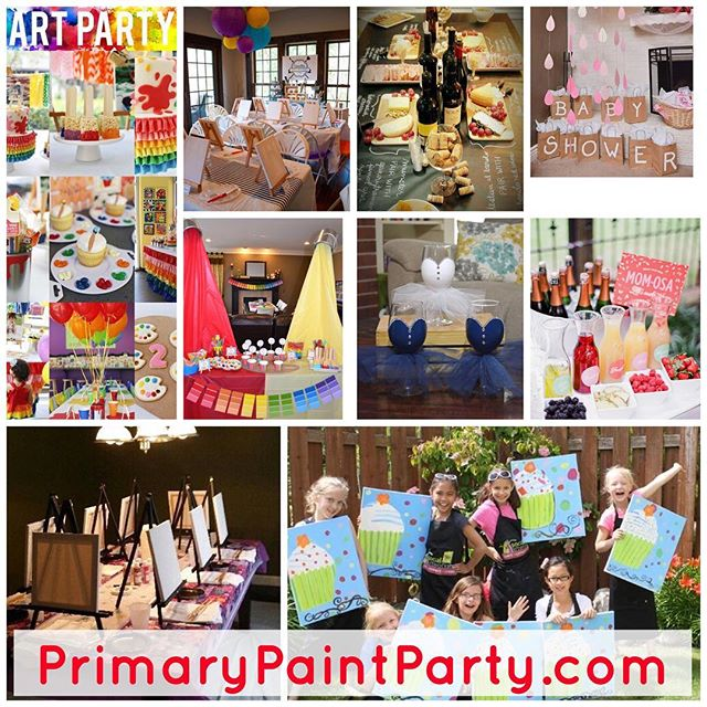 Schedule your party today! PrimaryPaintParty