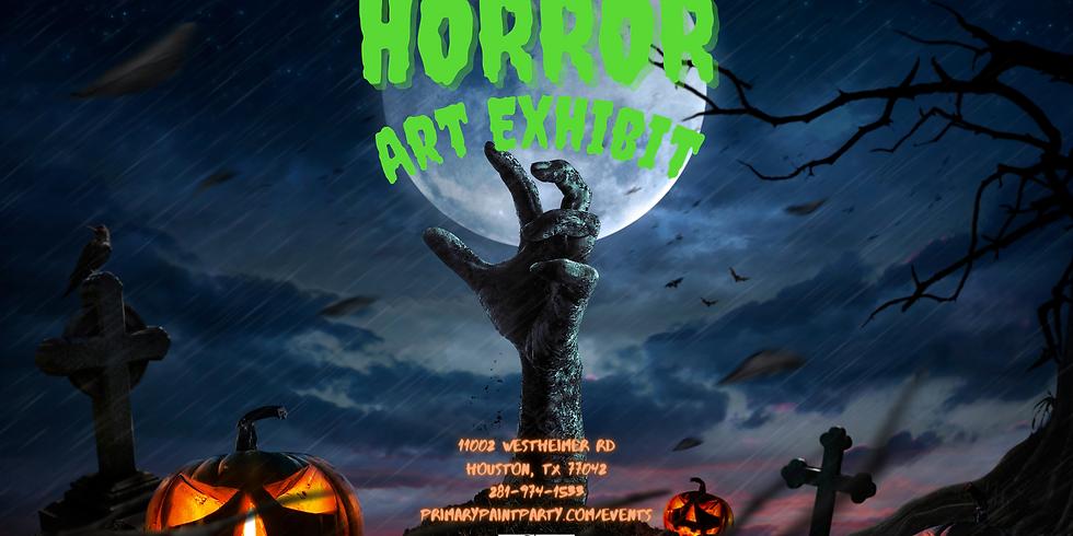 Horror Art Exhibit Opening Day