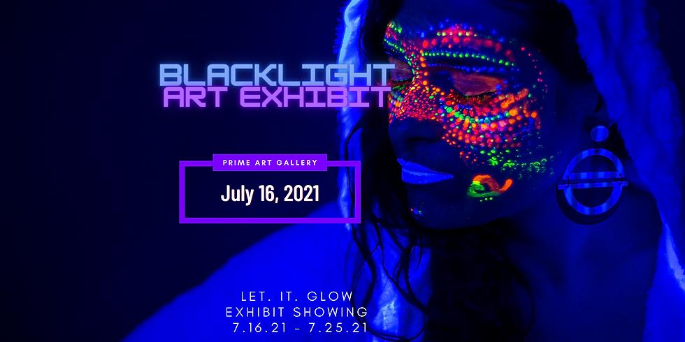 Blacklight Art Exhibit Opening Day
