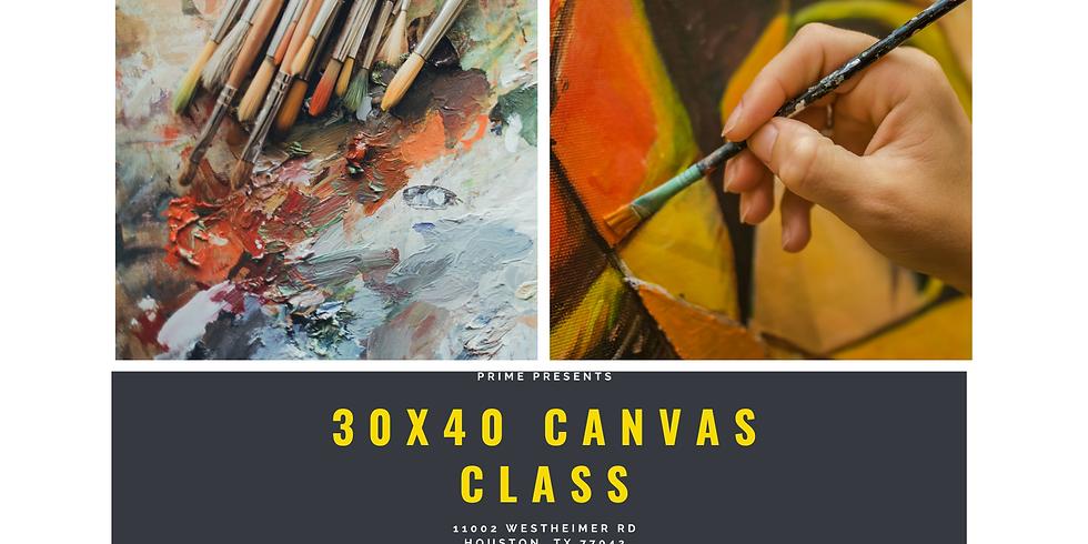 30x40 Canvas Class