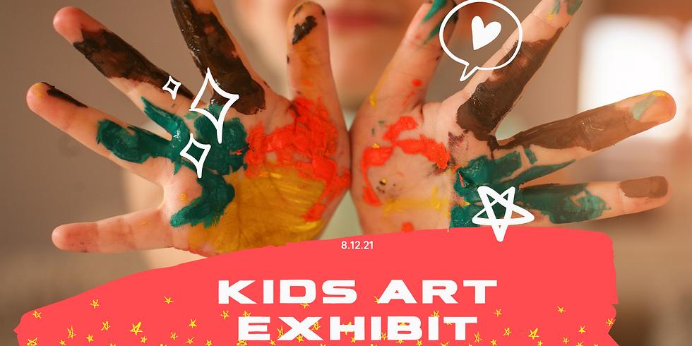 Kids Art Exhibit Opening Day