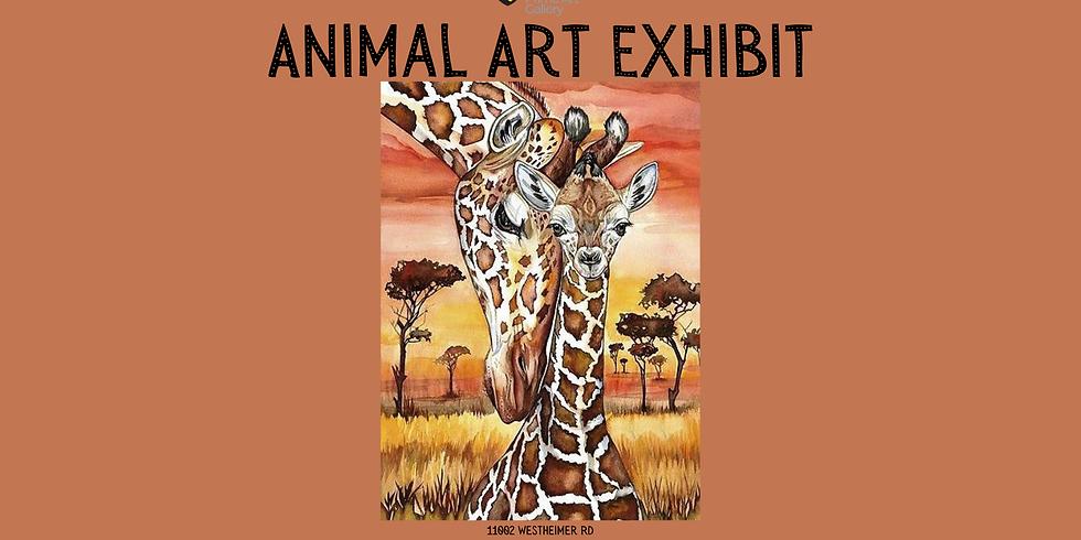 Animal Art Exhibit Opening Day