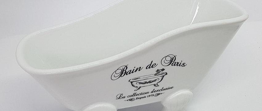"""Keramikwanne Weiß """"Bain de Paris"""", ca. L: 20 x  B:9 x H:10 cm"""