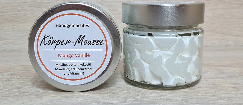 "Körper-Mousse ""Mango Vanille"" - Vegan - im Glasbehälter"