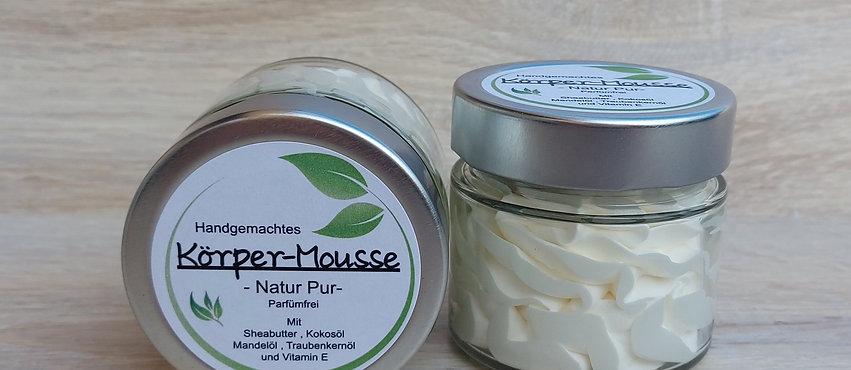 """Körper-Mousse """"Natur Pur"""" allergenfrei - vegan - im Glasbehälter"""