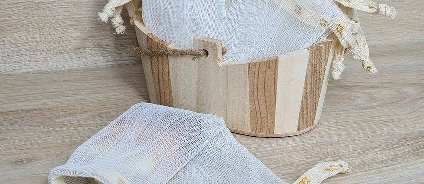 """NEU:  Seifensäckchen - aus """"Bio-Kunststoff"""""""
