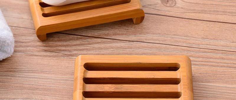 NEU:  Ablage aus Bambus-Holz, wasserfest, ca. 11 x 7,5 x 2 cm