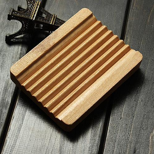Seifenablage  aus Hemuholz, hellem Holz, rechteckig, 4 Silikonfüsse