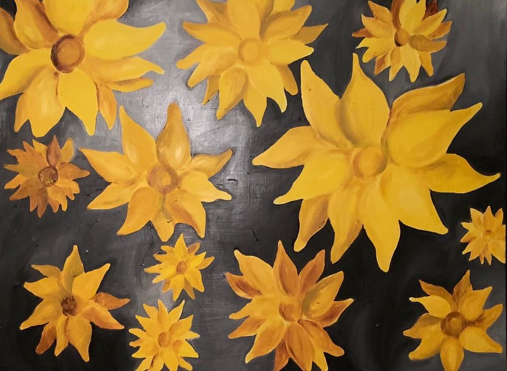 Sarah Hensley Art: st louis artist's sunflower paintings