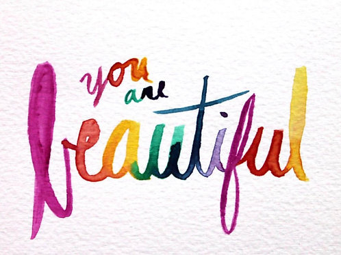 You Are Beautiful Notecard 4-Pack