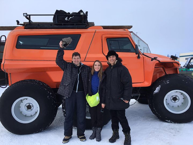 all set to move on ice with special jeep.