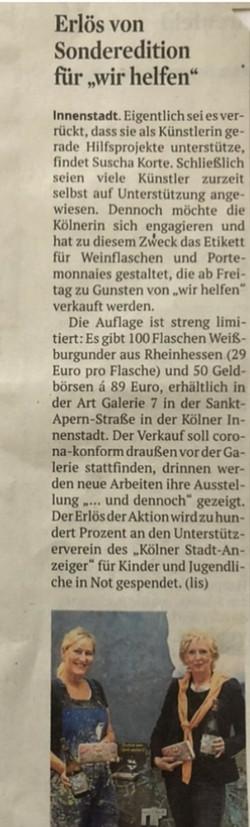 Kölner Stadtanzeiger, Oktober 2020