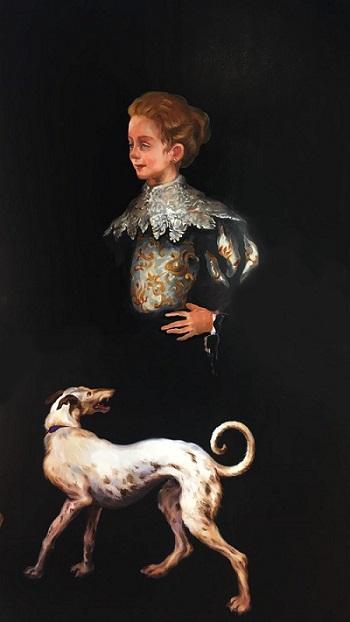Klara mit Hund, 2020