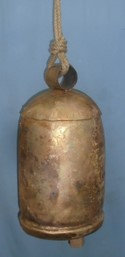 Dome Top Tin Bell With Wood Striker