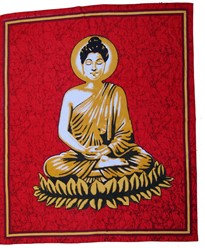 Batik Buddha Tapestry