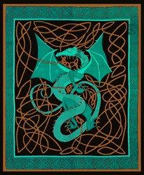 Celtic English Dragon Tapestry