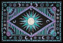 Day Light Sun Tapestry - Green