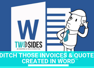Ditch those invoices & quotes created in word