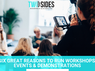 SIX GREAT REASONS TO RUN WORKSHOPS, EVENTS & DEMONSTRATIONS